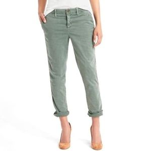GAP girlfriend chino Twill Olive Pant